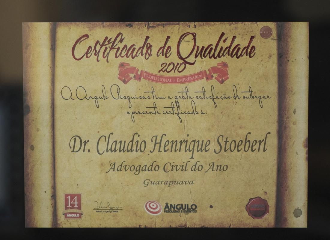 Certificado de Qualidade 2010