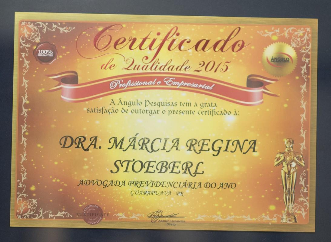 Certificado de Qualidade Profissional e Empresarial